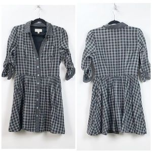 Anthro Moulinette Soeurs Black Plaid Reed Dress